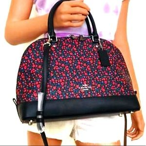 Coach cluster floral purse crossbody